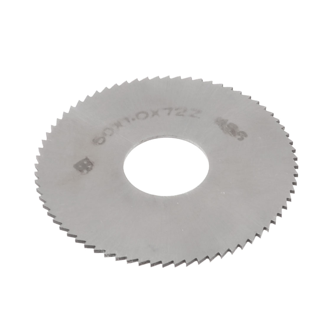 HSS 50mm Dia 1mm Thickness 72 Teeth Circular Milling Cutter Saw Silver Tone
