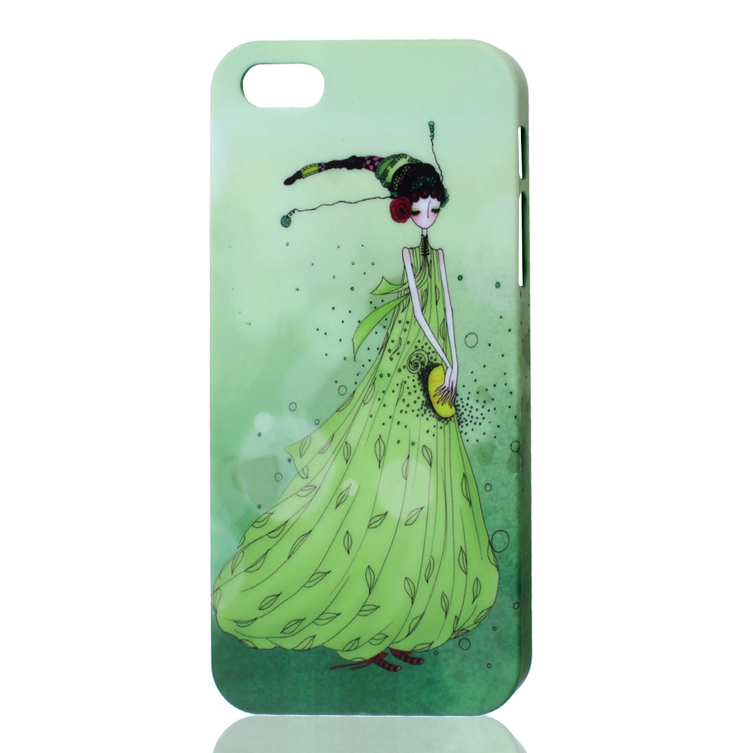 Lovely Girl Pattern Seagreen Hard Back Case Cover for iPhone 5 5G