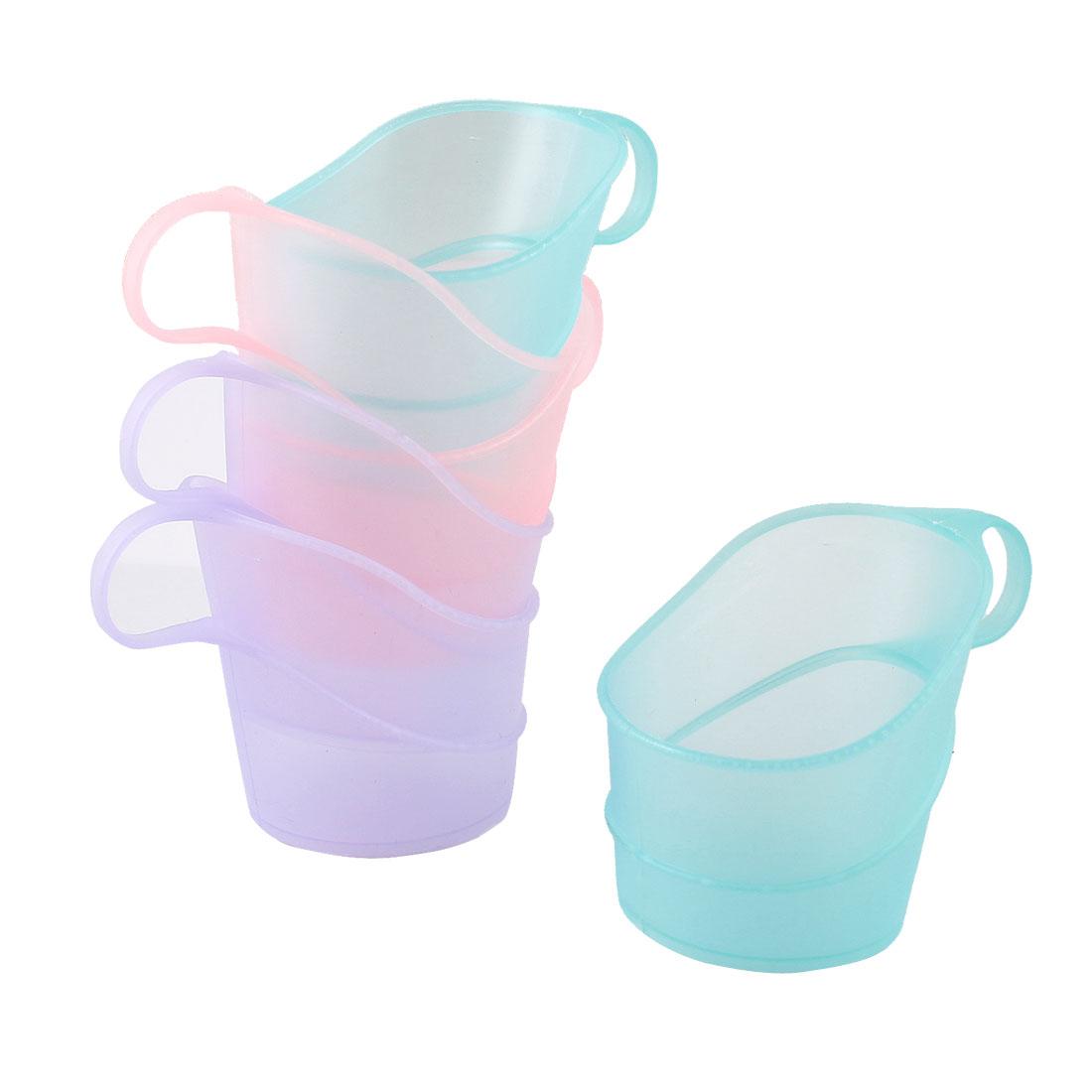 6 Pcs Assorted Color 5cm Bottom Dia Plastic Cup Mug Holder