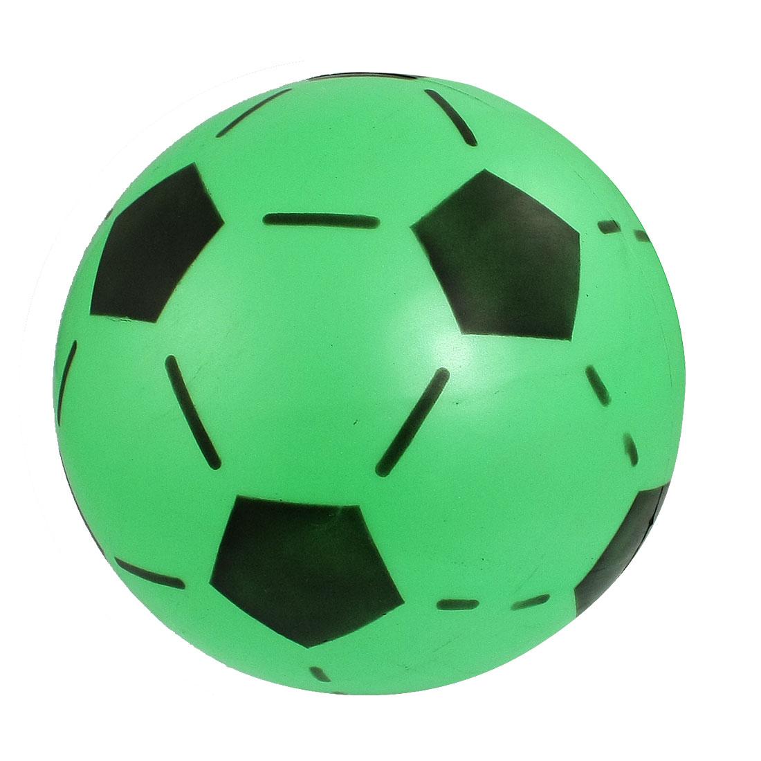Green Black 16.8cm Diameter Soft Plastic Football Toy for