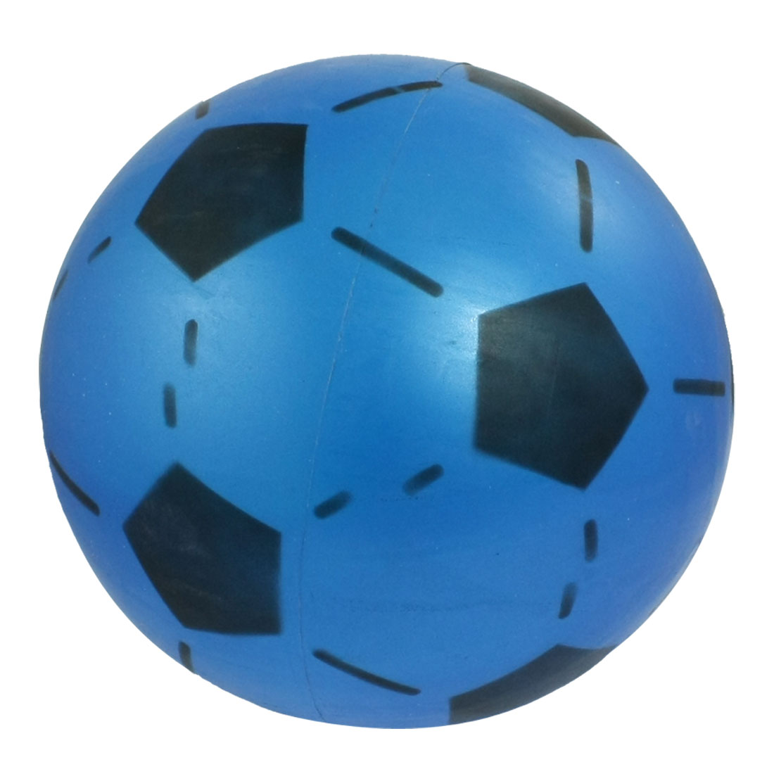Blue Black 16.8cm Diameter Soft Plastic Football Toy for Child