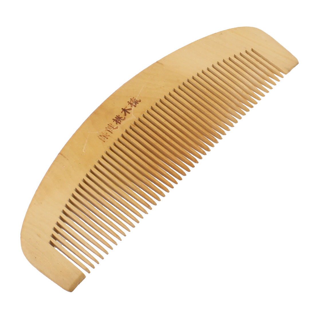 "5.8"" Long Eco Friendly Wooden Color Natural Wood Hair Comb"
