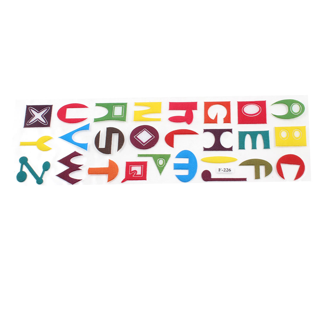 26 in 1 3D Colorful English Letters Stick PVC Sticker for Wall