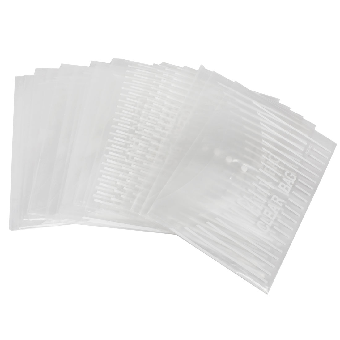20 Pieces White Clear Plastic Press Stud Closure Bag for A4 Paper