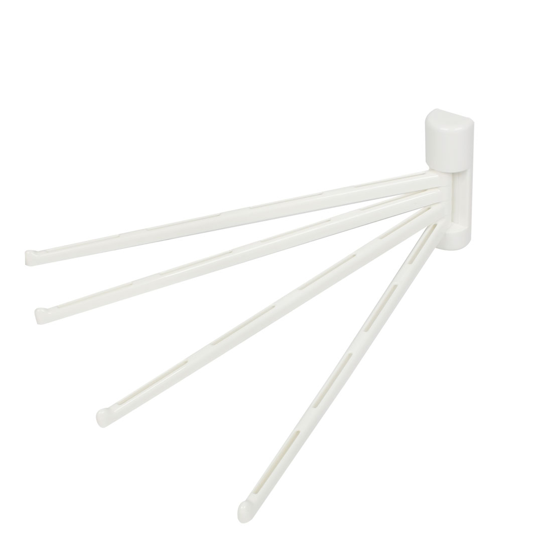 "Swing Plastic 4 Arms Towel Bar Rack Holder Kitchen Bathroom 13"" Long"