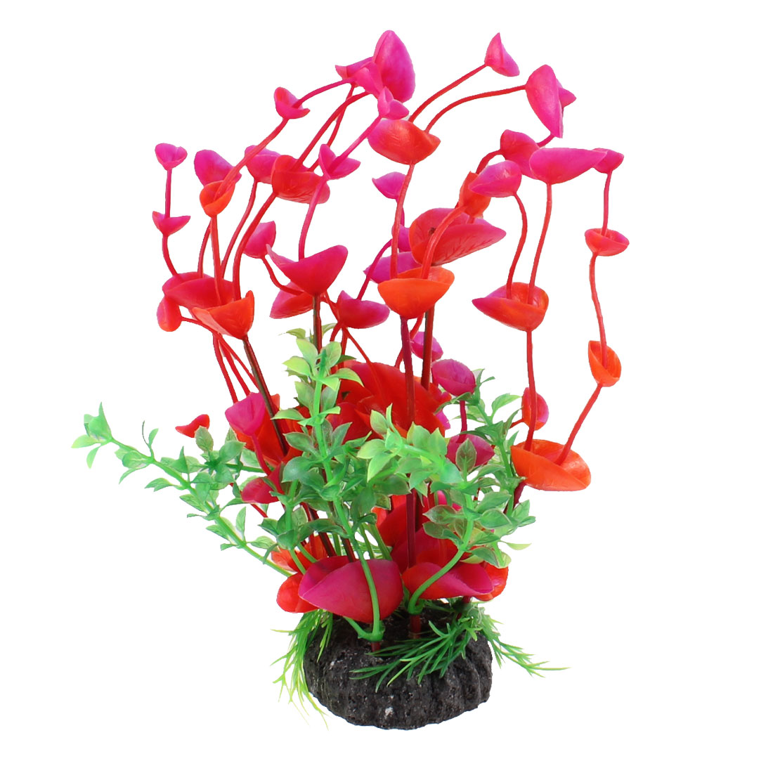 Aquarium Fish Tank Landscaping Ornament Emulational Red Green Grass Plant Dcoration