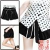 Ladies Black Elastic Waist Self Tie Bowknot Casual Summer Shorts XS