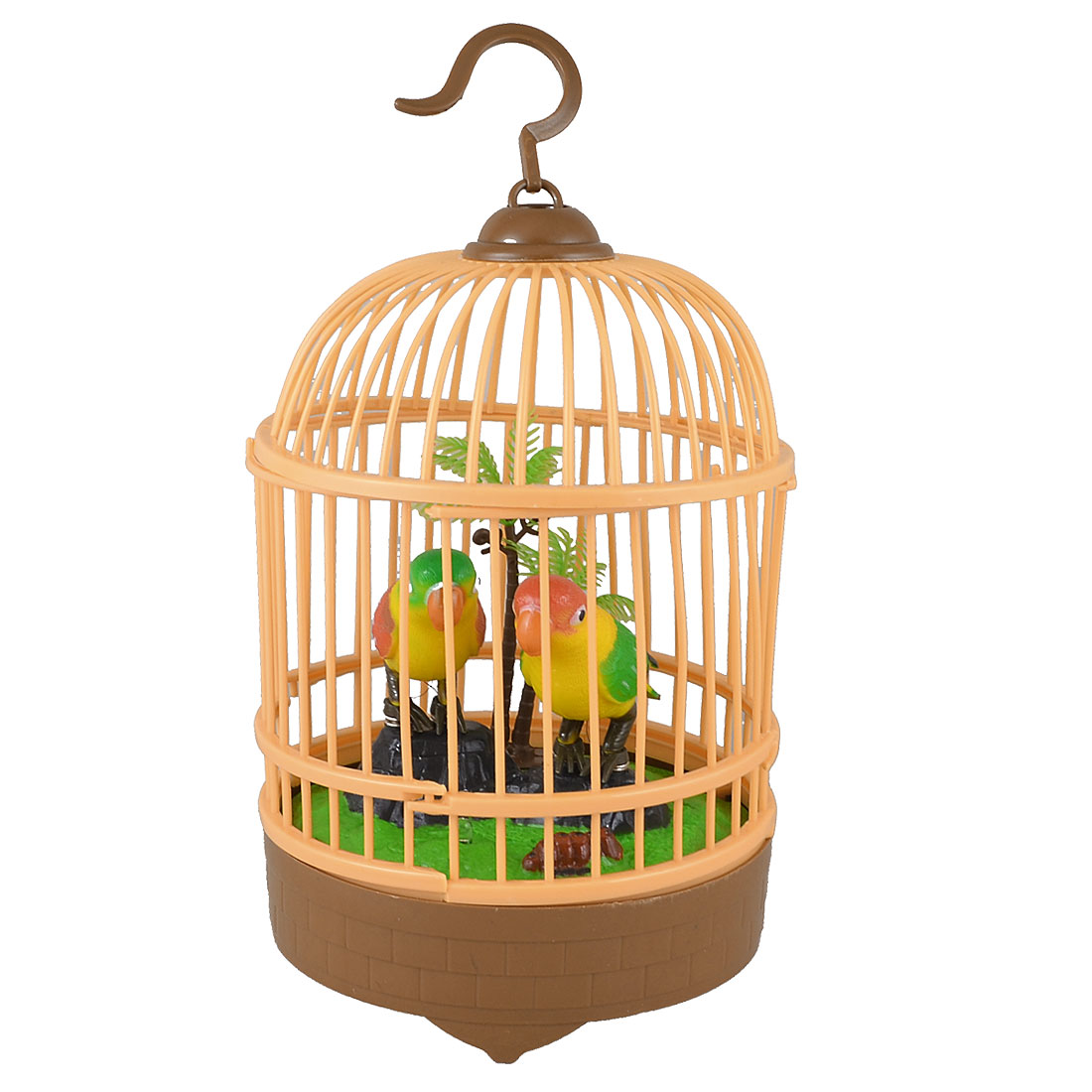 Child Plastic DIY Assembly Electric Emulation Birds Singing Sound Control Bird Cage Toy