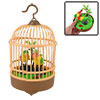 Plastic DIY Assembly Electric Emulation Birds Singing Sound Control Bird Cage Toy