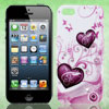Rhinestone Inlaid Butterfly Heart Hard Back Case Cover Shell White for iPhone 5 5G