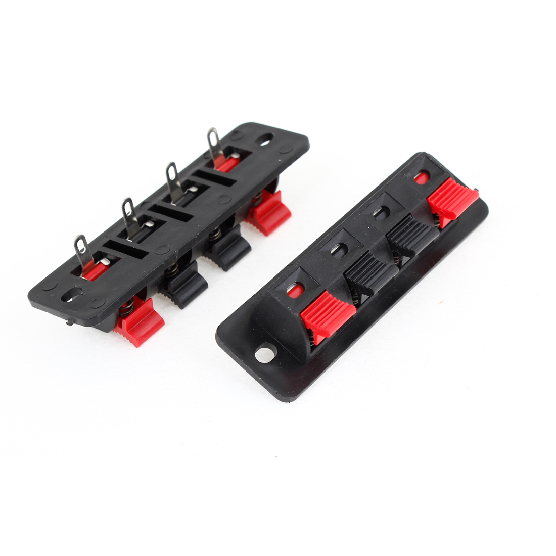 2 Pcs 4 Terminals Spring Speaker Binding Post Terminal Board
