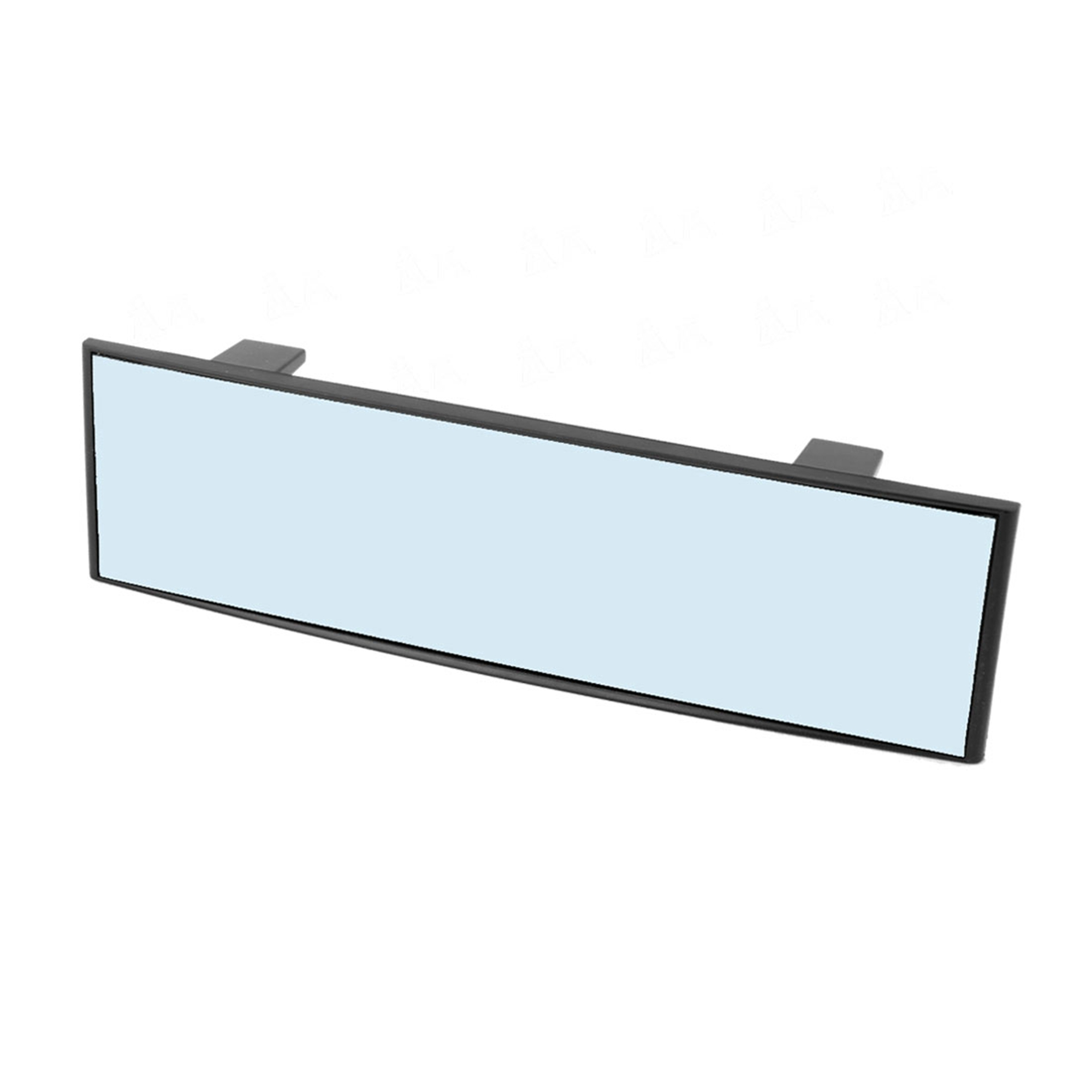 Universal 300mm Wide Anti-Glare Blue Tint Curve Clip On Rear View Mirror 70mm