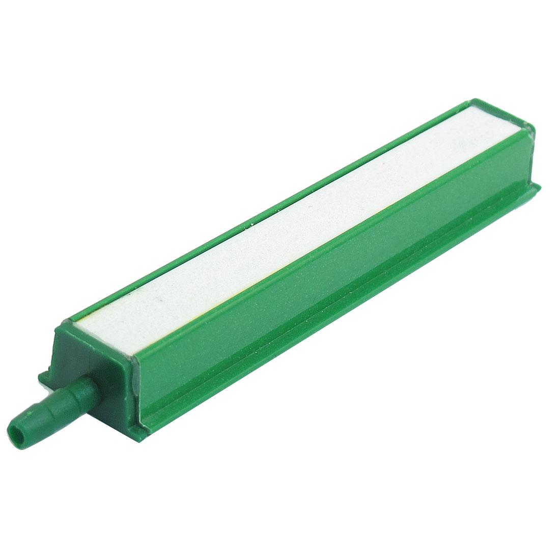 "4.5"" Long Plastic Encased Bubble Air Stone Bar Green White for Aquarium"