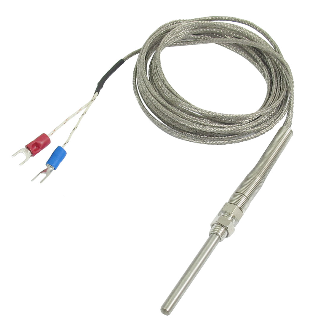 K Type 50x5mm 800C Probe Thermocouple Temperature Sensor Cable 9.8ft 3 Meters