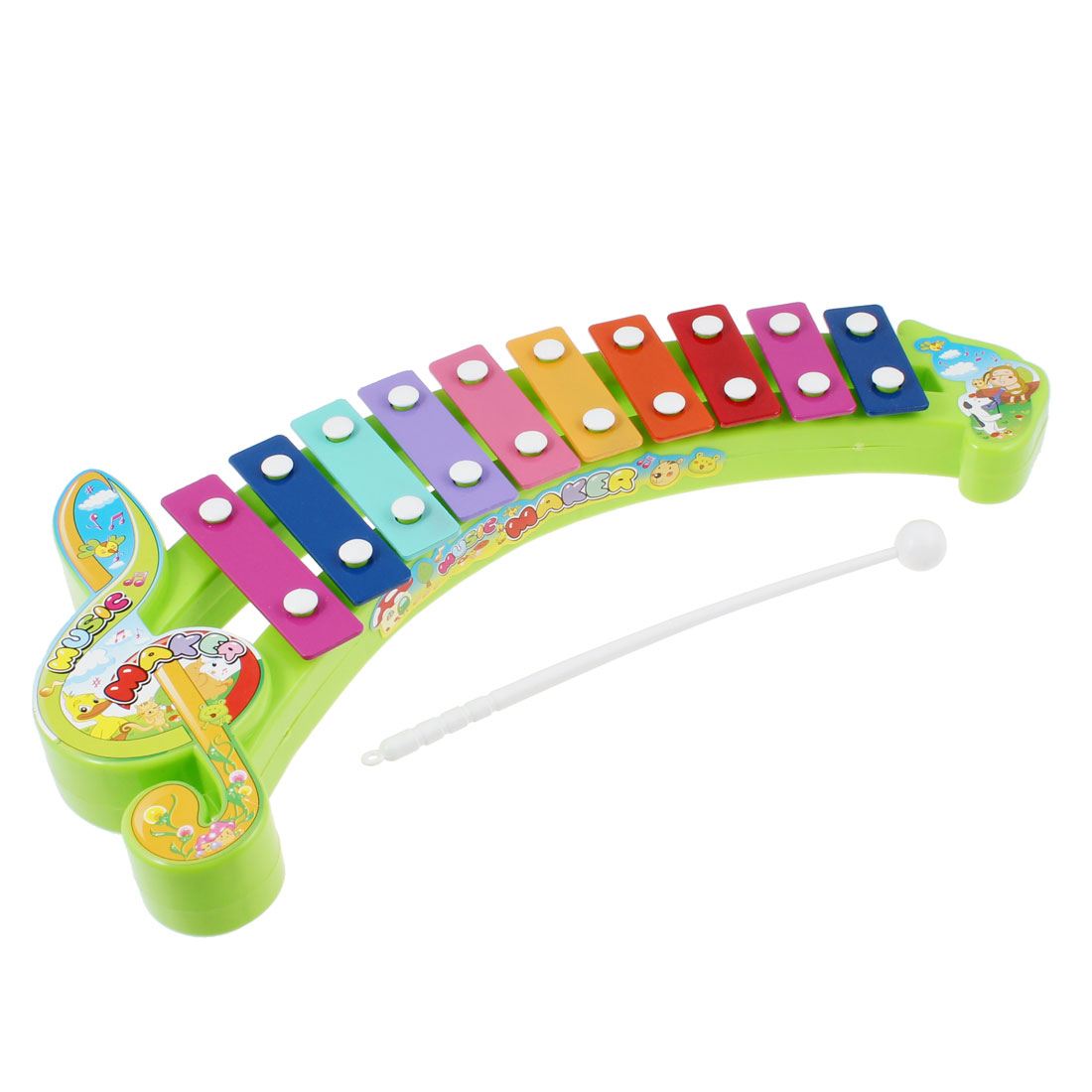 Plastic Sticks 10 Tone Music Beat Percussion Toy Colorful Xylophone for Children
