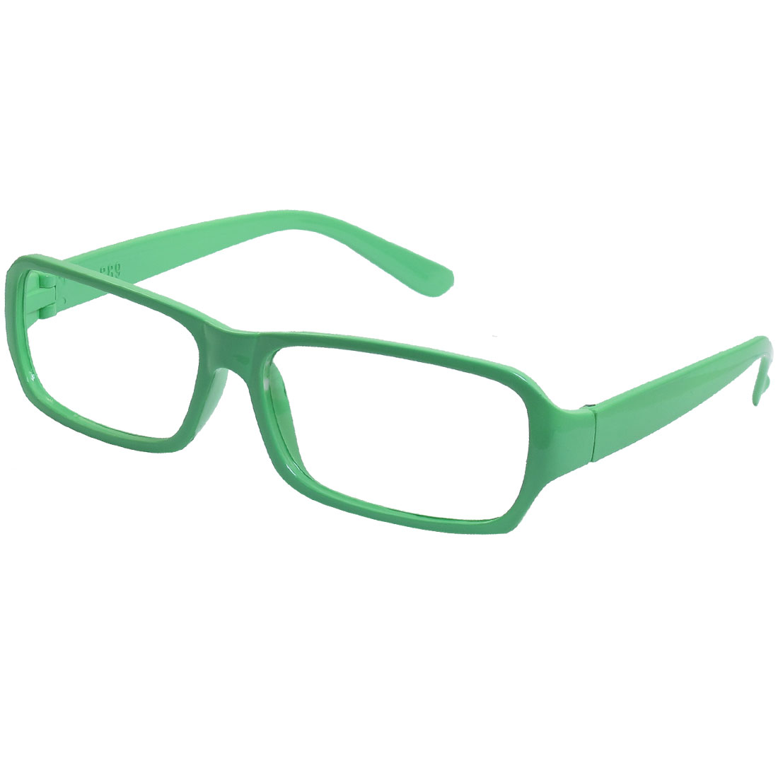 Pale Green Plastic Arms Full Rim Rectangular Eyeglasses Frame for Ladies