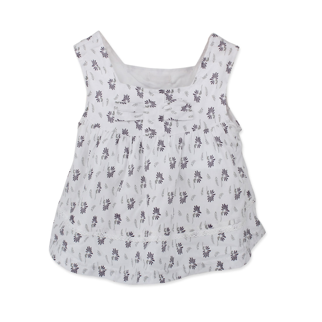 Baby Girl White Flower Pattern Sleeveless 24 mo. Tank Dress Allegra Baby