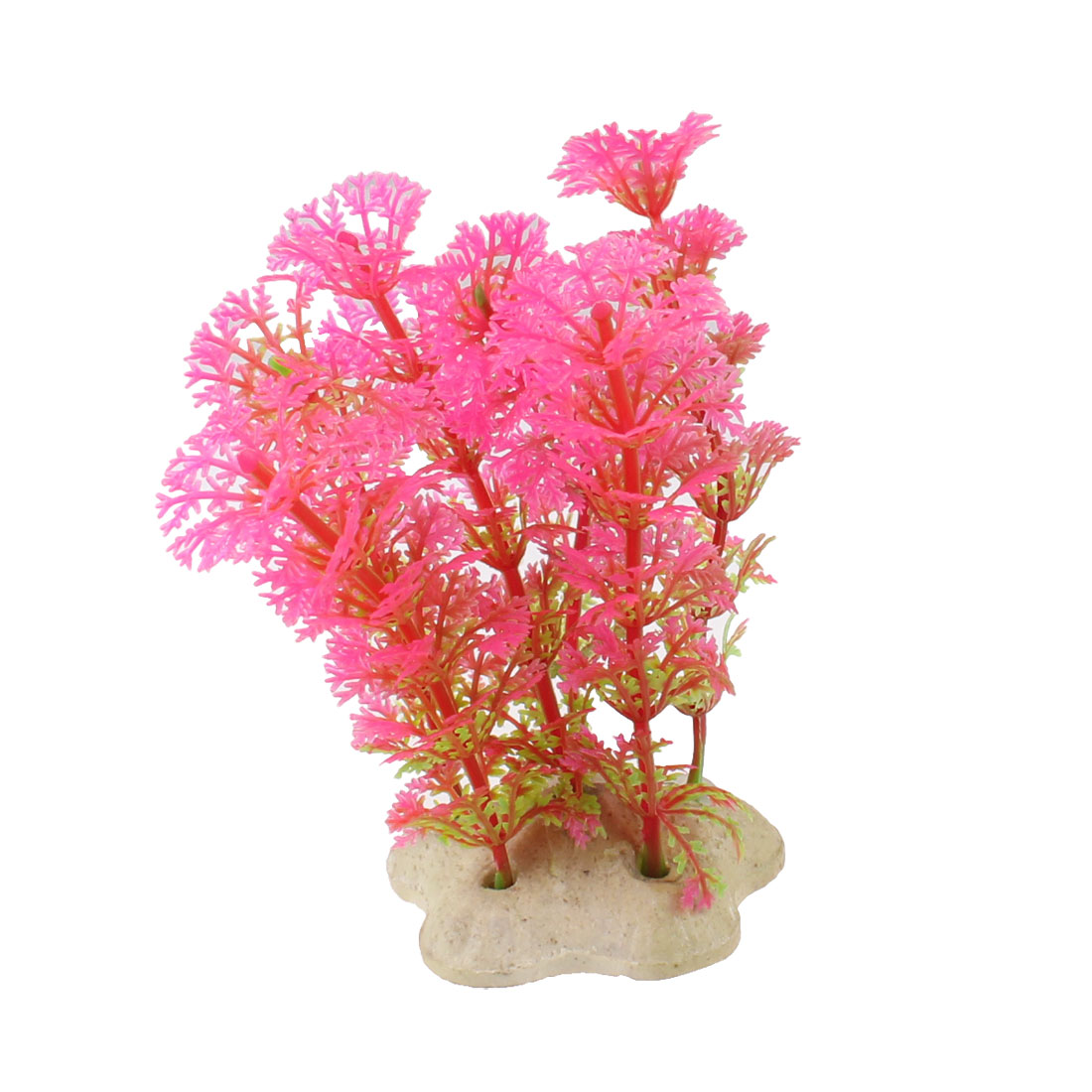 "Fish Tank Aquarium Landscape Emulational Underwater Grass Plant Pink 4.3"""