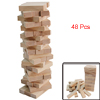 Family Board Game 48 Pcs Wooden Stacking Tumbling Tower