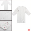 Kids Round Neck Dots Pattern White 4T Printed Cardigan Allegra Baby