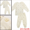 Infant Beige Long Sleeves Stretchy Shirt w Pants 24 mo. Allegra Baby