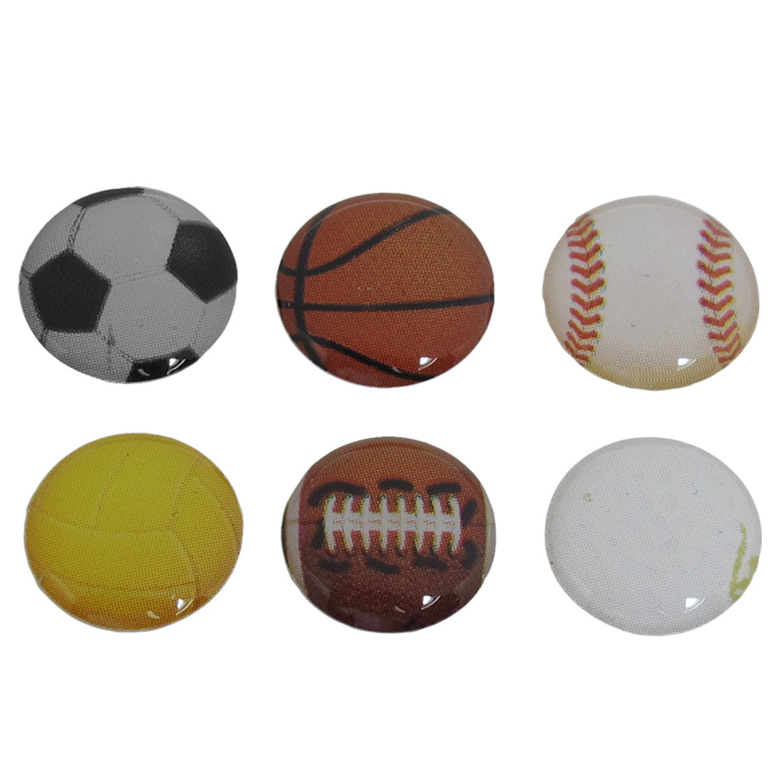 6 in 1 Football Volleyball Basketball Pattern Home Button Sticker