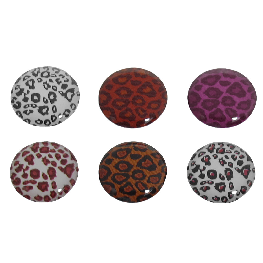 6 in 1 Multicolor Leopard Print Home Button Sticker