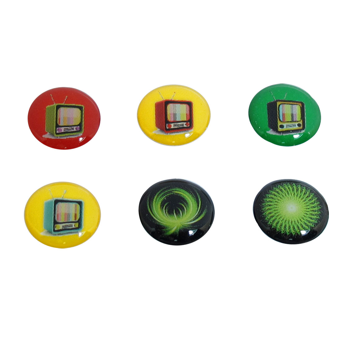 6 in 1 Plastic Assorted Television TV Home Button Sticker