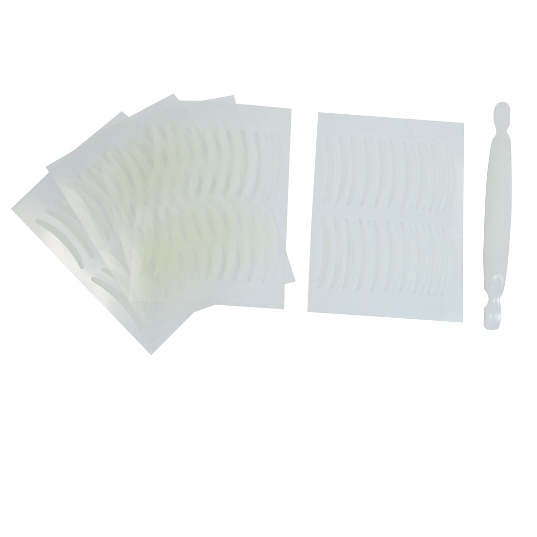 100 Pairs Adhesive Beige Soft Plastic Double Eyelid Tape Stickers