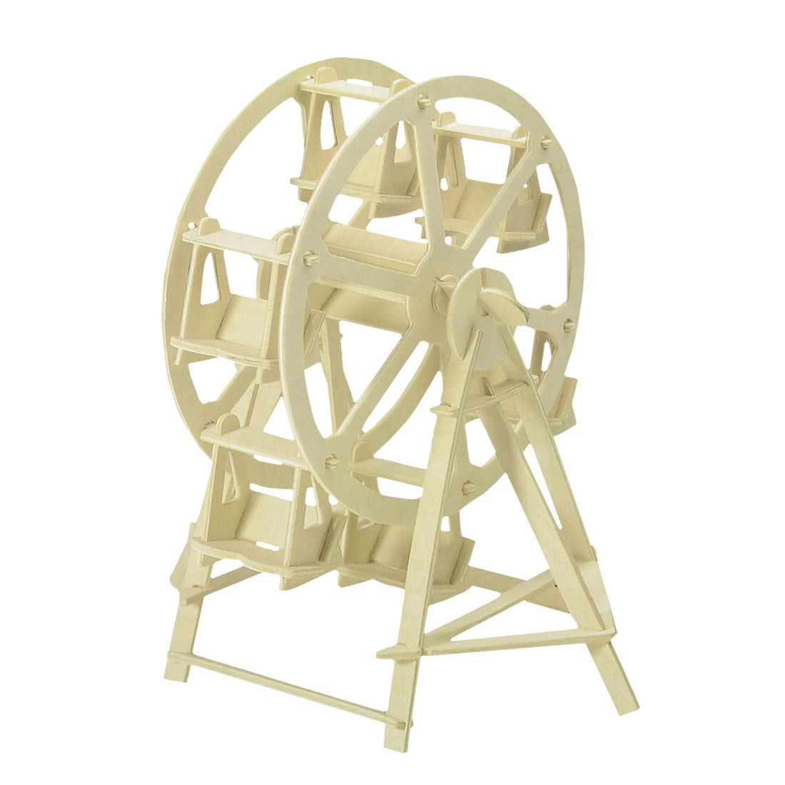 Child Educational DIY Assembly 3D Ferris Wheel Woodcraft Construction Puzzle Toy