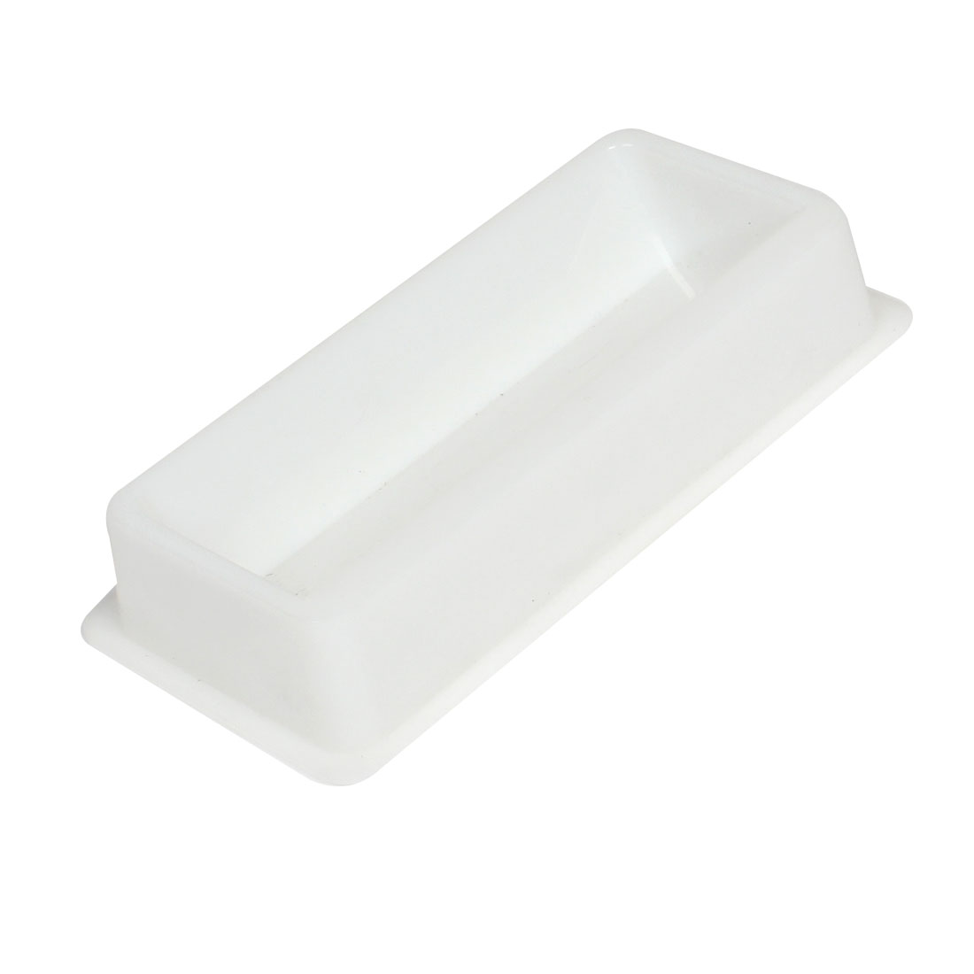 50mL Capacity White Plastic Liquid Transfer Trough for Lab