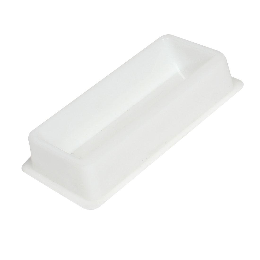 50mL Capacity White Plastic Liquid Transfer Trough for Lab