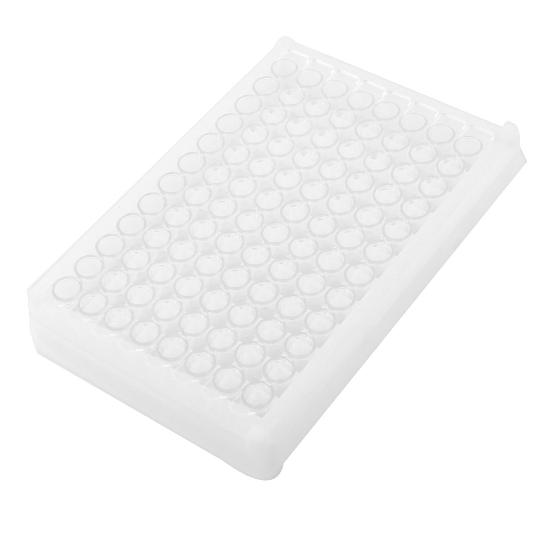 White Clear Plastic Rectangle Shape 96 Compartments Medium Binding Elisa Plate