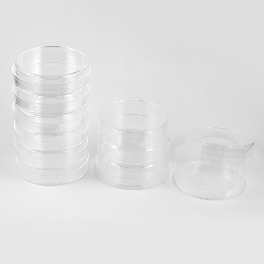 Laboratory 90mm Dia Cylindrical Transparent Cell Culture Dish 10 Pieces
