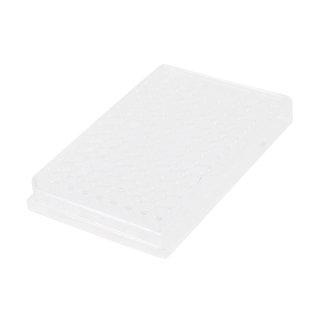 Clear Plastic Rectangle Shape 96 Compartment Cell Culture Plate
