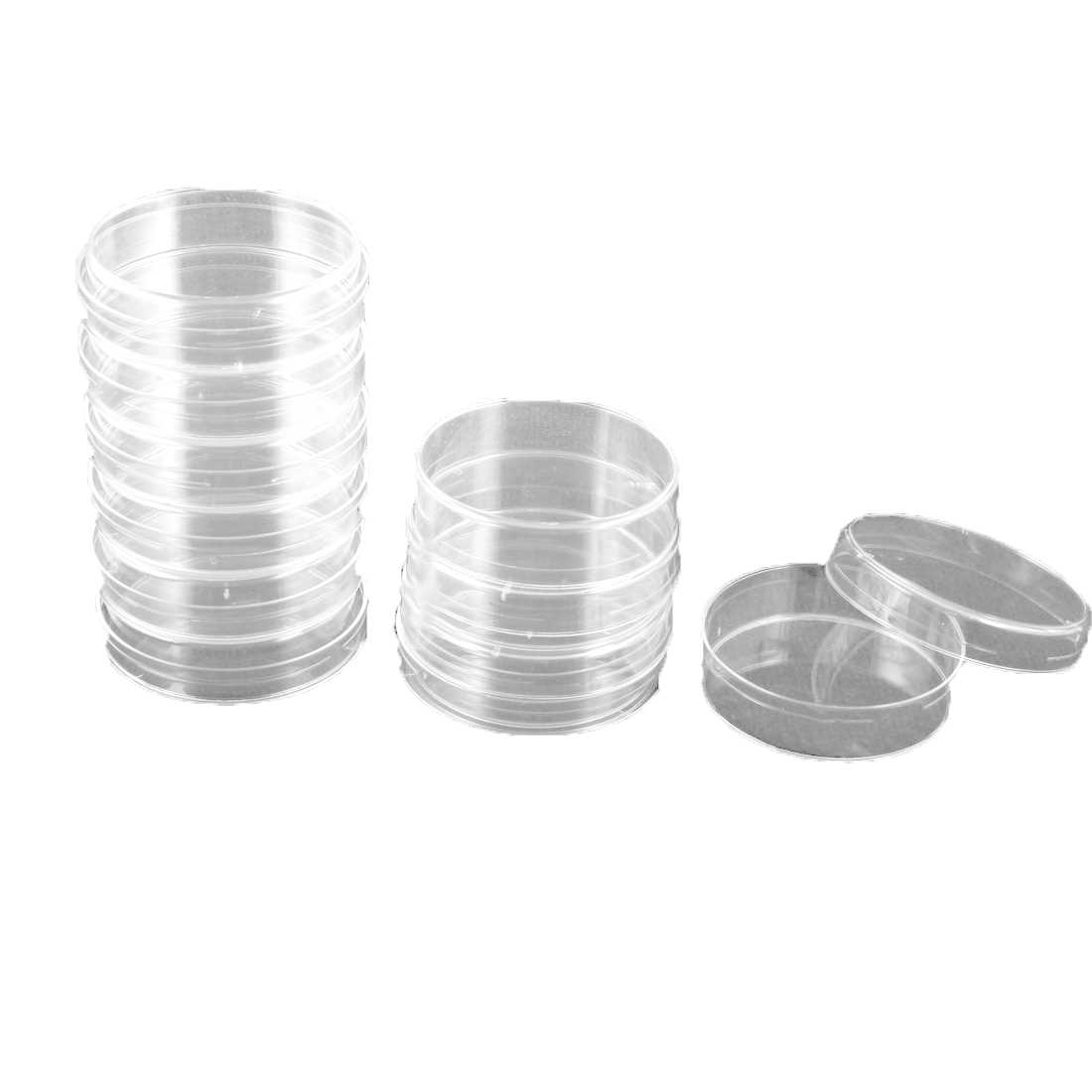 10 Pcs 60mm Diameter Cylinder Shape Clear Plastic Cell Culture Dish