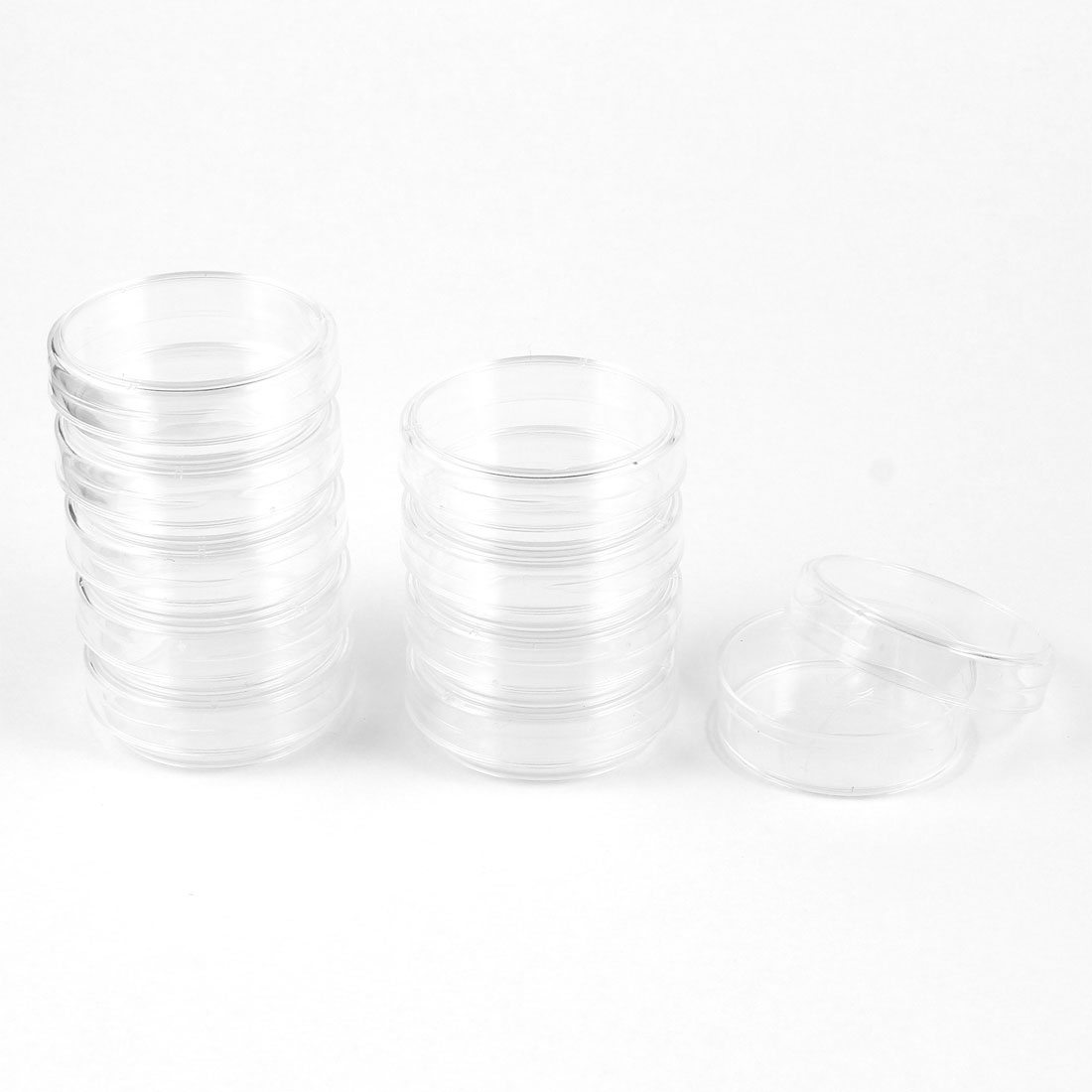 Chemical Experiment 38mm Dia Rounded Shape Cell Culture Dish Clear 10 Pcs