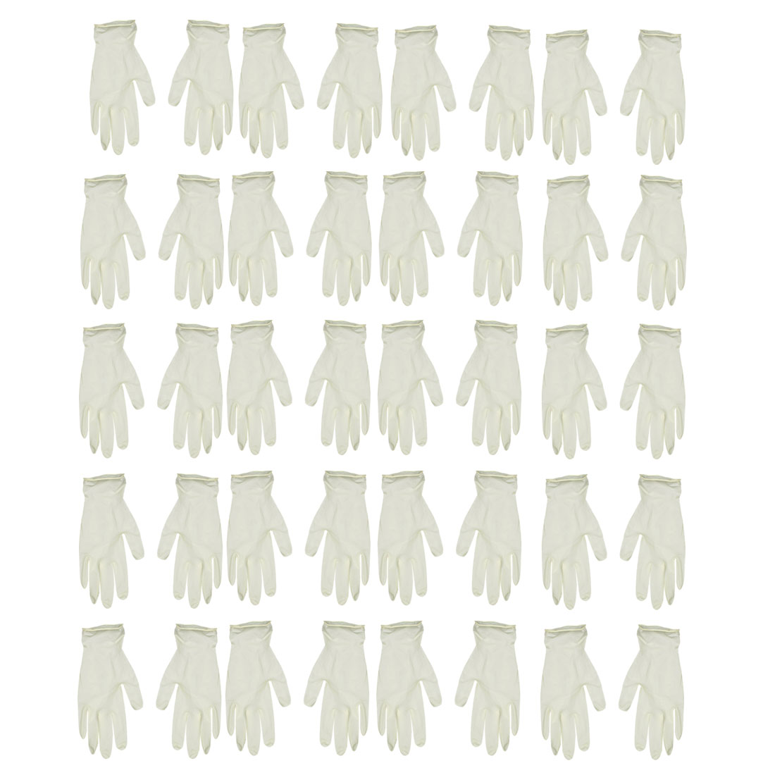 White Disposable Rubber Latex Gloves Powder Free Size Large 24 Pairs