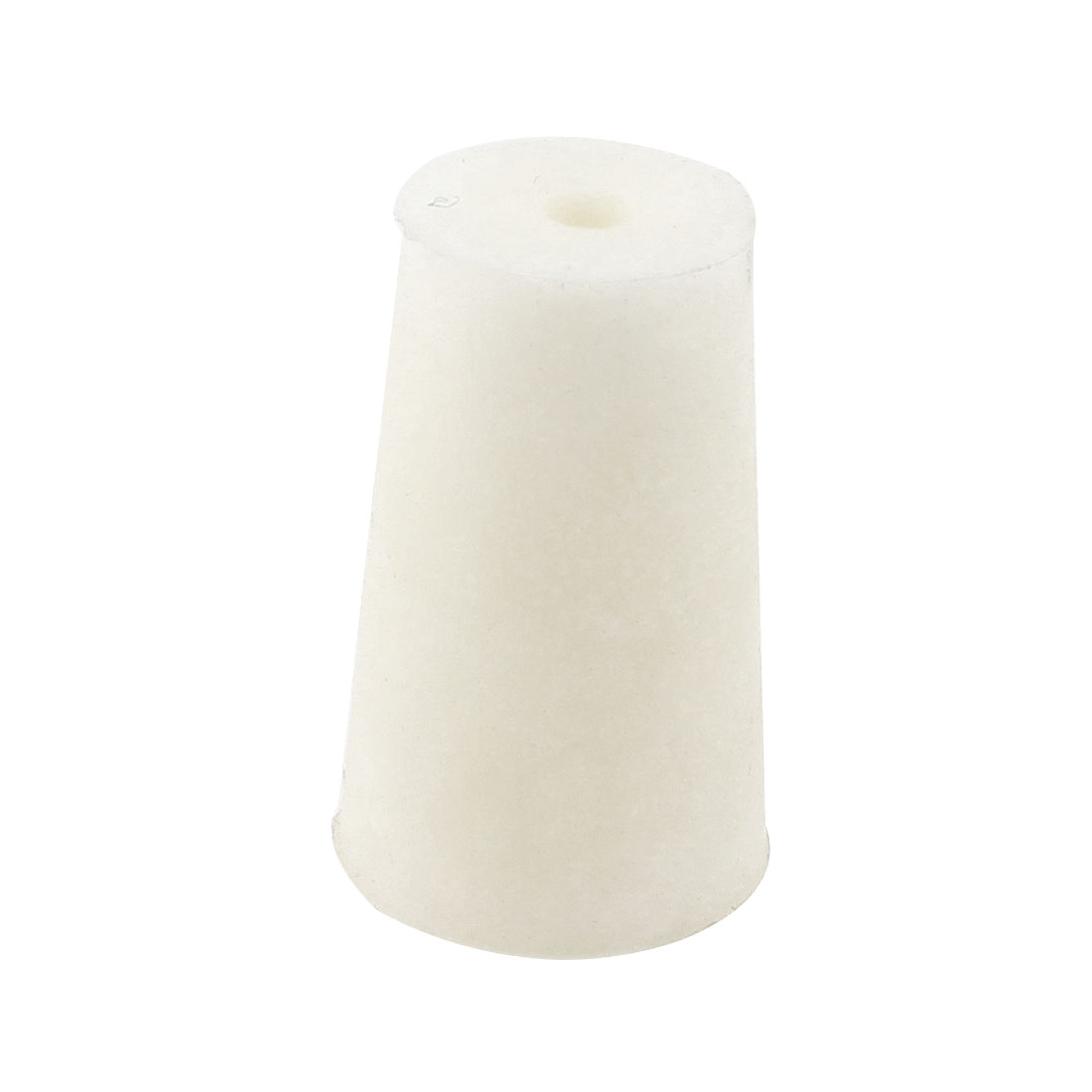 18mm Bottom Diameter 31mm Length Silicone Test Tube Stopper White