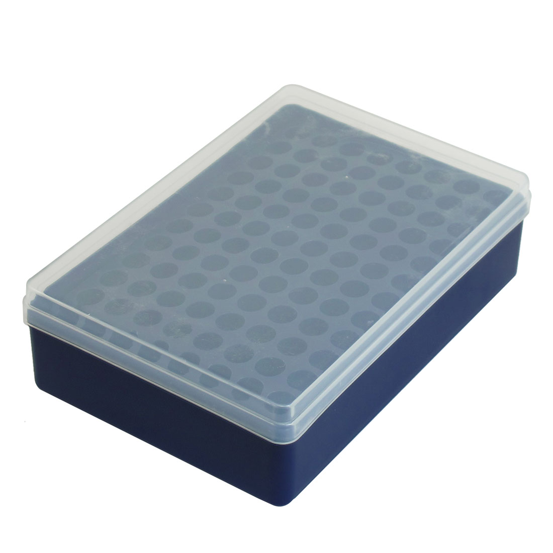 Round Shaped Slot 96 Compartments Dark Blue Plastic Ice Cube Mold Mould Tray