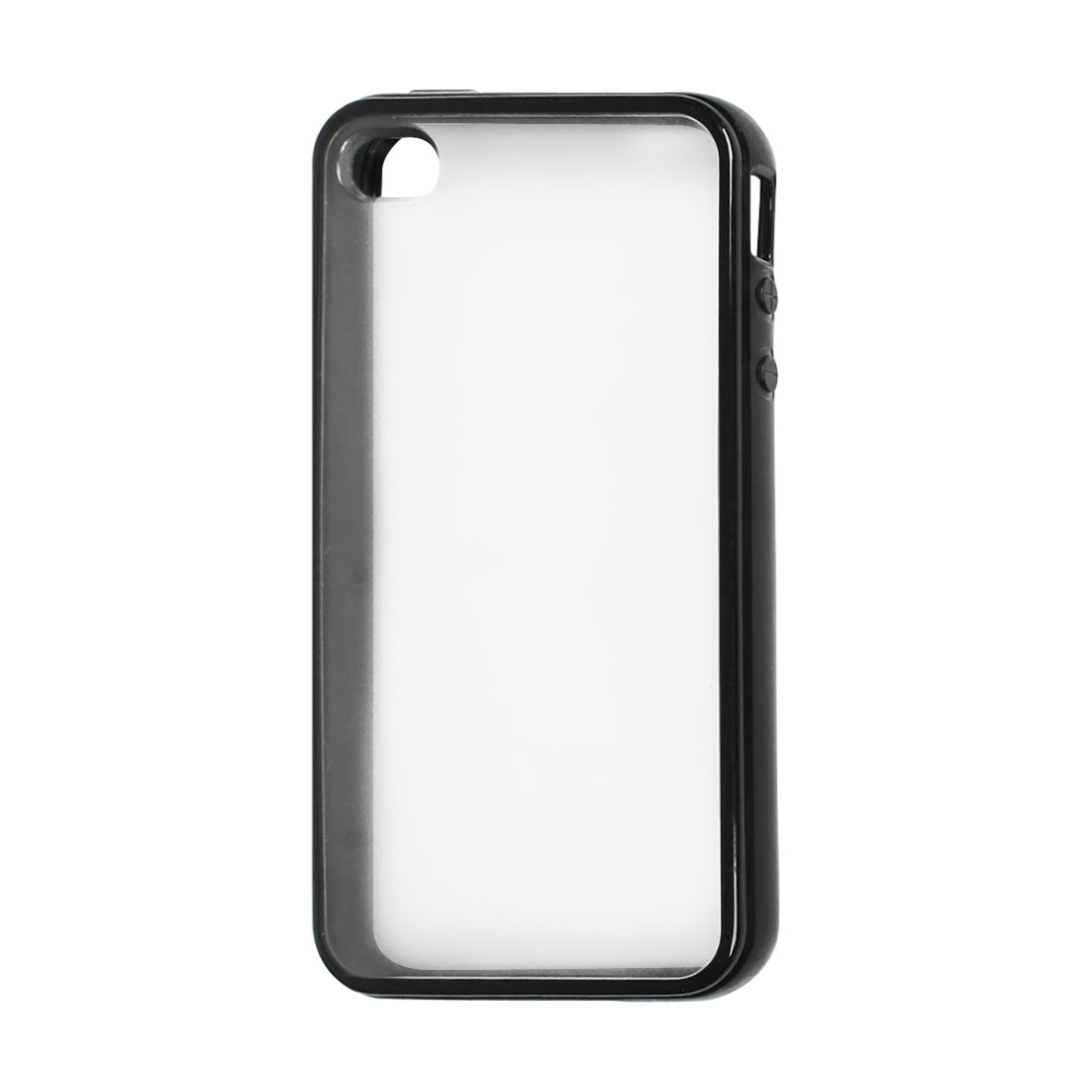 Black Clear Plastic TPU Cover Case Protective for iPhone 4 4S