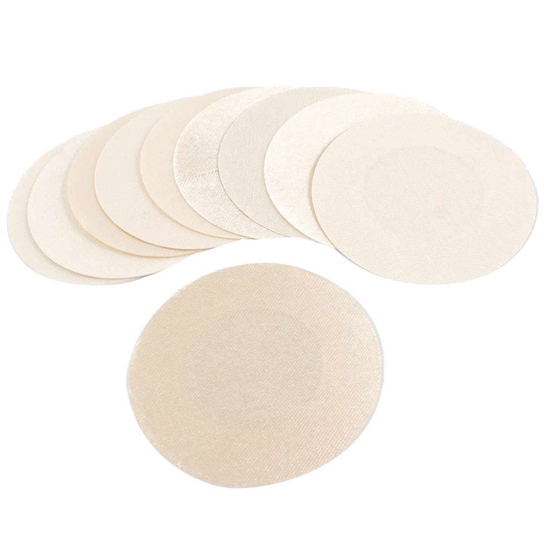 "10 Pcs 2"" Dia Polyester Nipple Cover Pads Beige for Ladies"