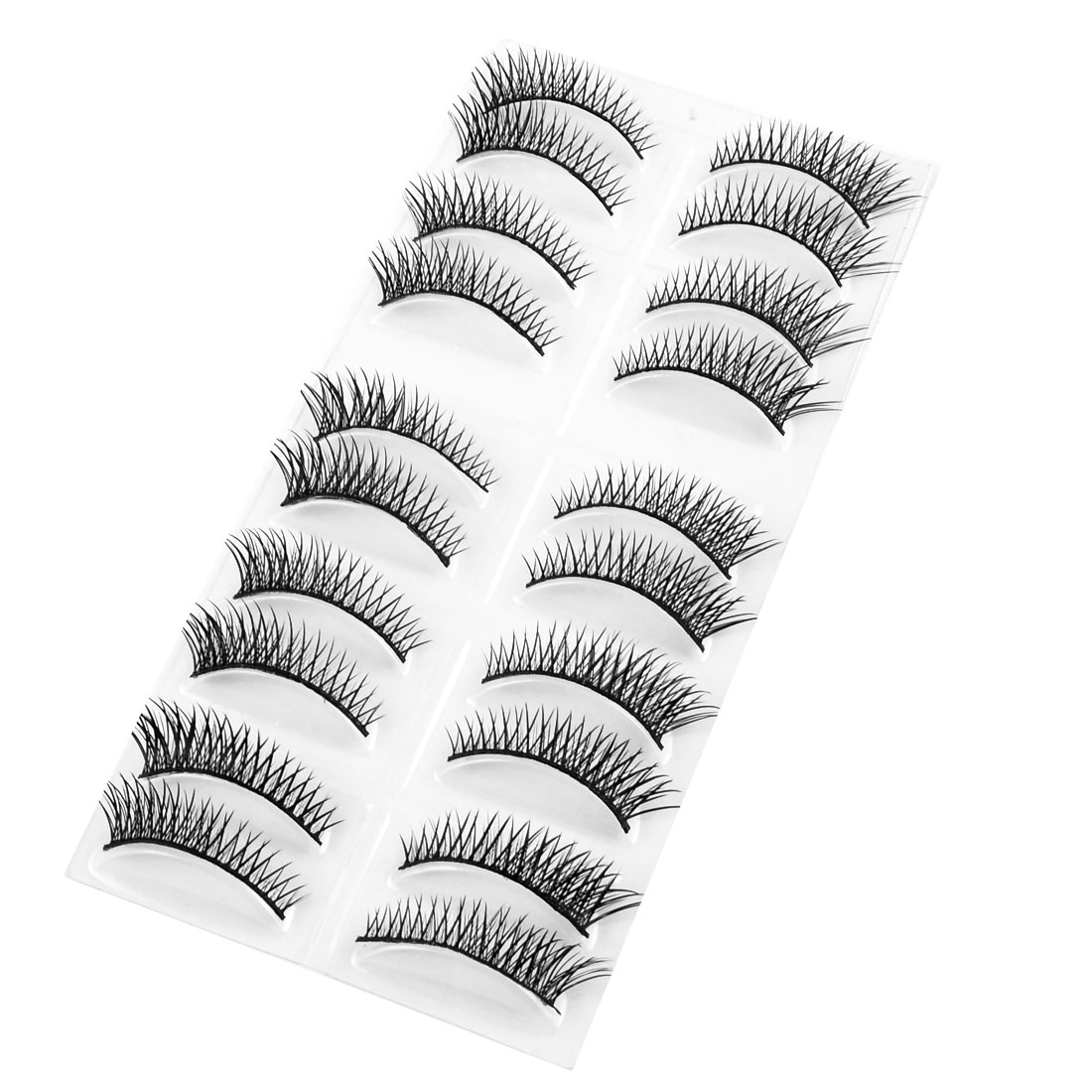 Eye Beauty Cosmetic Thick Long Curly Fake Eyelashes Black 10 Pairs