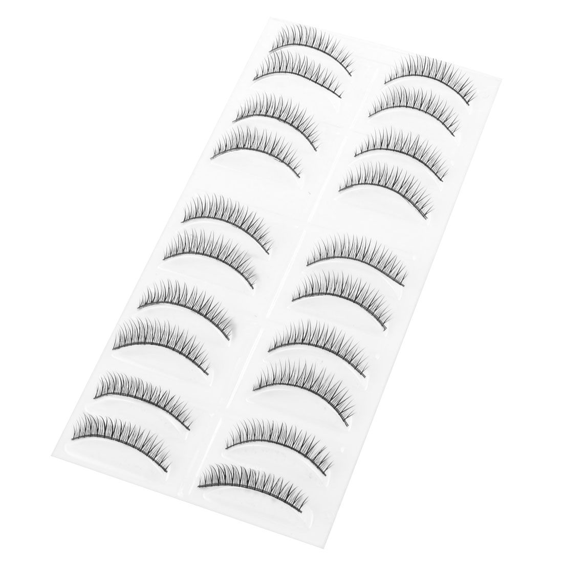 Girl Eye Beauty Make up Long Curly Natural Lashes False Eyelashes Black 20 in 1