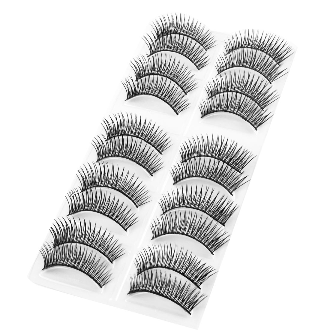 10 Pair Costume Party Makeup Black Long Thick Curly False Lashes Eyelashes for Woman