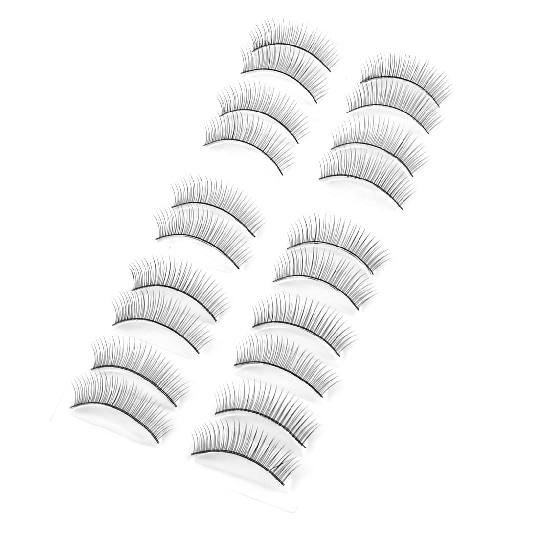 Ladies Big Eyes Makeup Black Curly Natural Fake Lashes False Eyelashes 10 Pairs