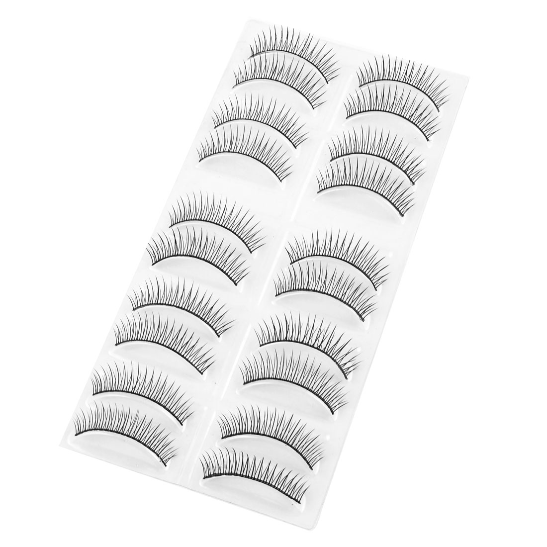 10 Pairs Costume Ball Makeup Black Long Thick Curly False Eyelashes for Women
