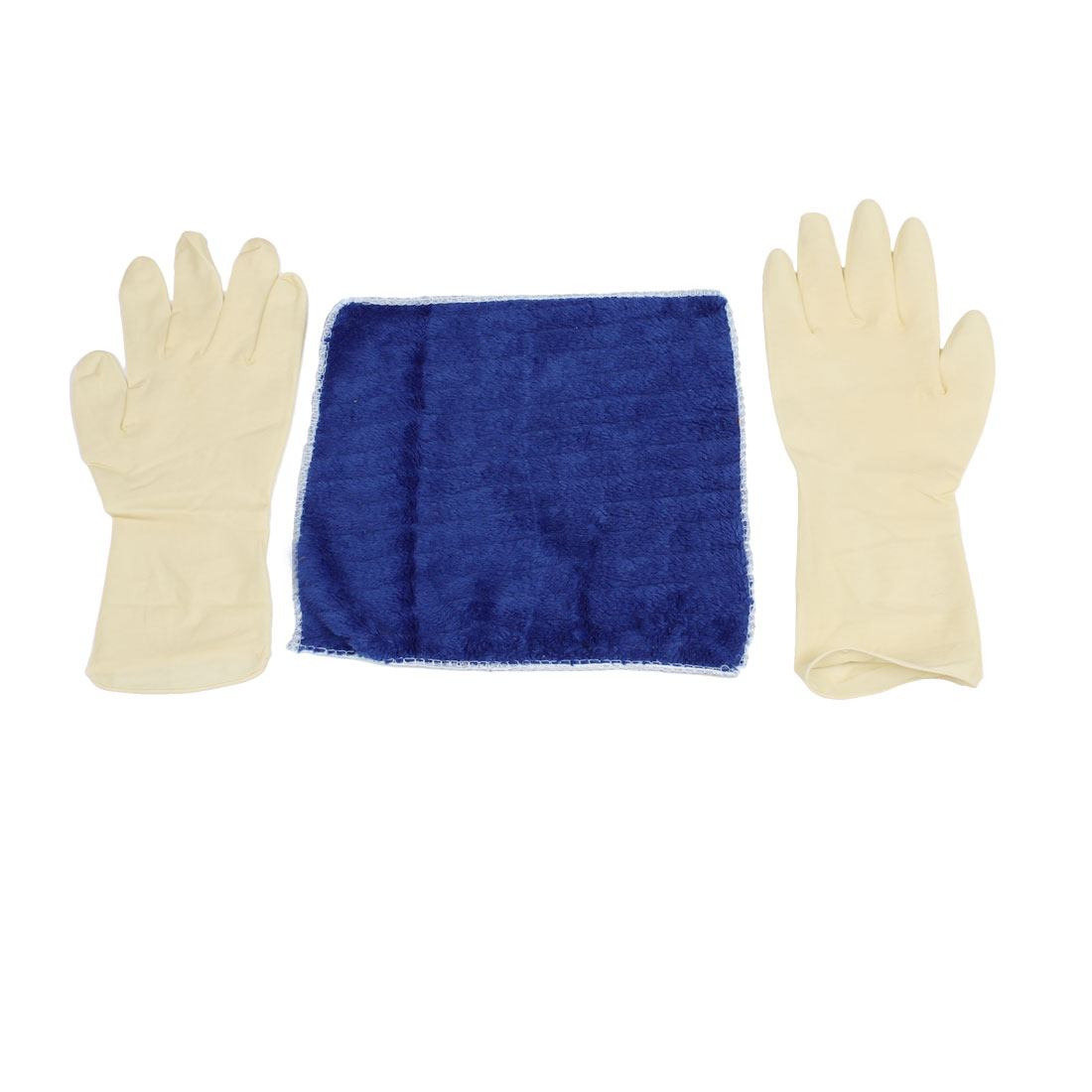 Home Hotel Dark Blue Tableware Floor Washing Towel Soft Cleaning Cloth w Gloves