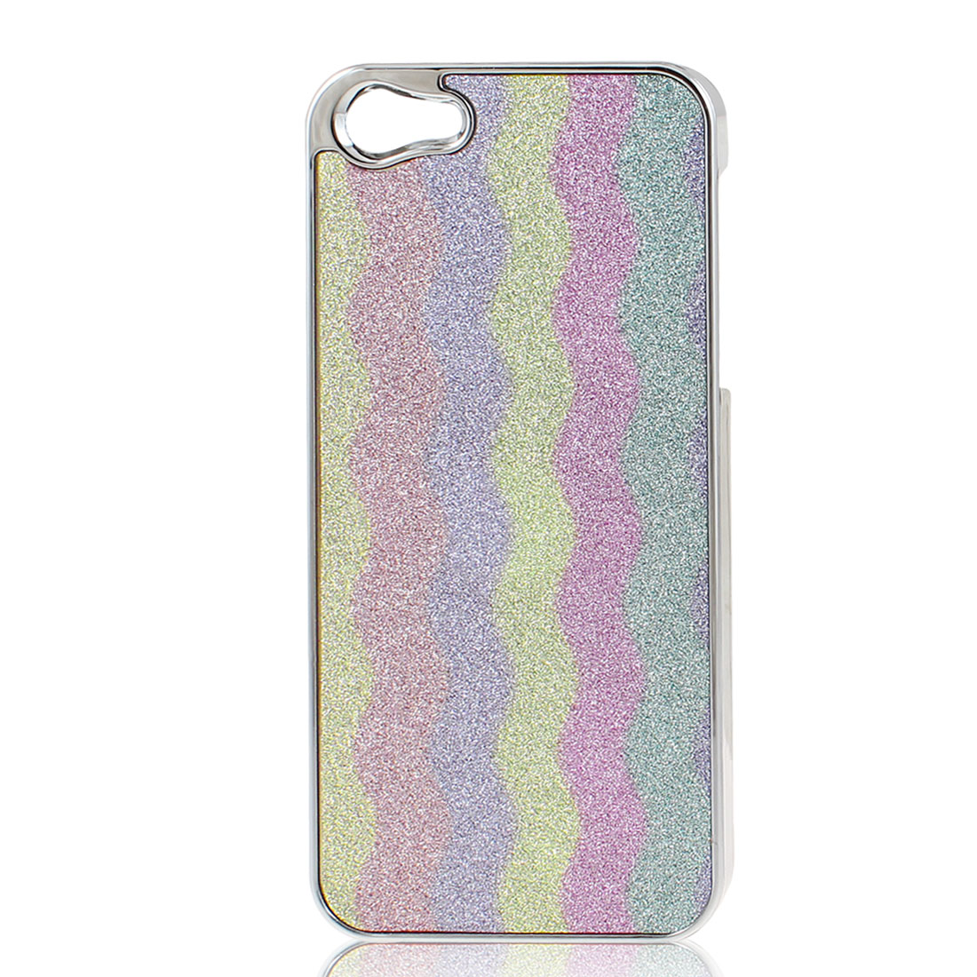 Colorful Wave Pattern Bling Hard Back Case Cover for Apple iPhone 5 5G