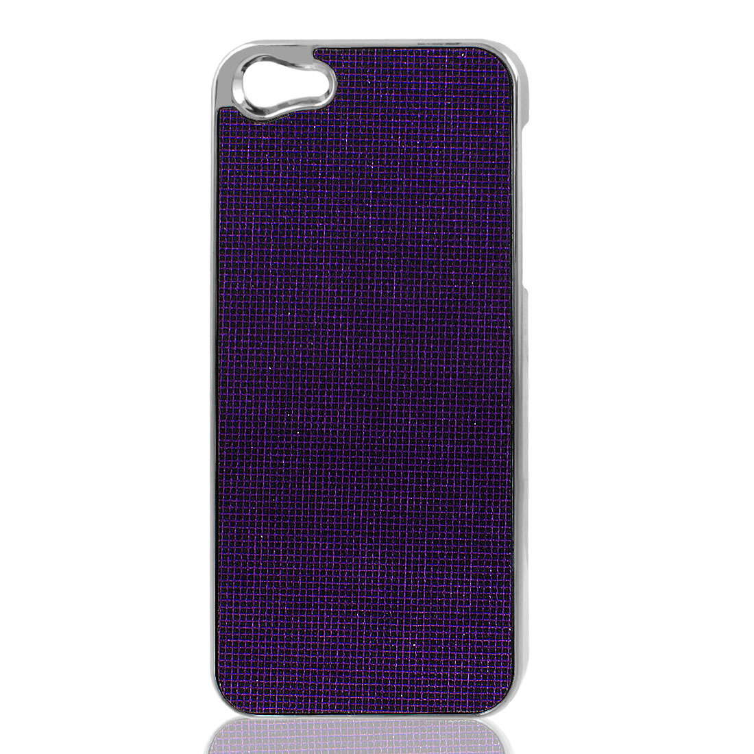 Purple Bling Glittery Hard Plastic Back Case Cover for iPhone 5 5G
